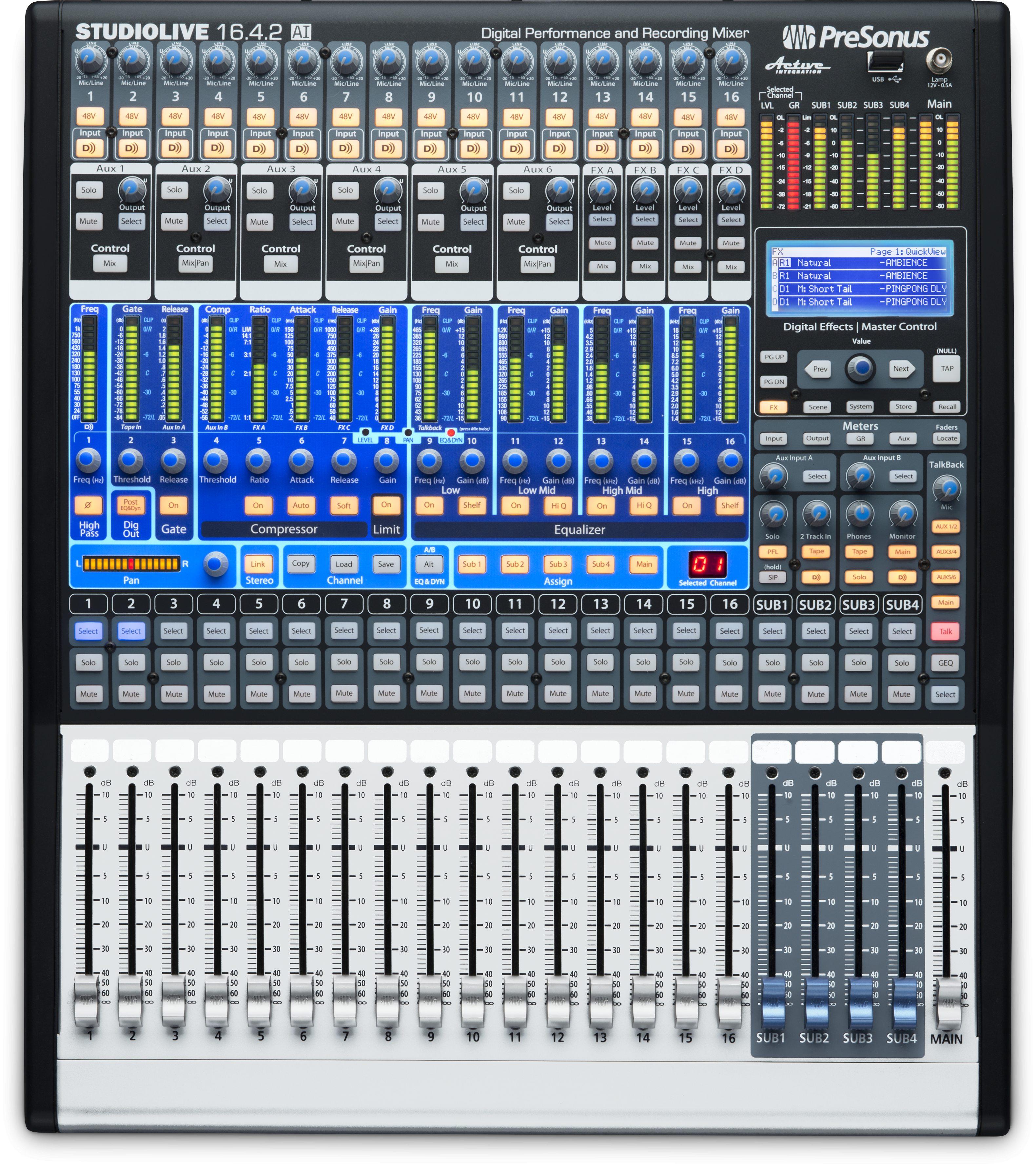 Studiolive 1642ai Presonus Commercial Division 221510 Band Stereo Graphic Equaliser Imgenes