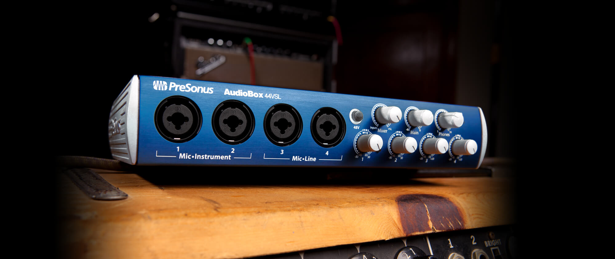 Audiobox 44vsl Presonus Stereo Mixer For Microphone With 2 Channels