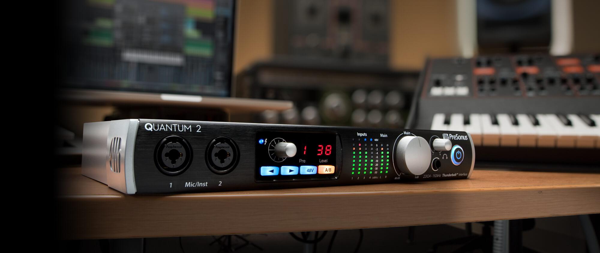 Pro Audio Equipment Fast Deliver Presonus Quantum 26x32 Thunderbolt 2 Audio Interface New Jrr Shop