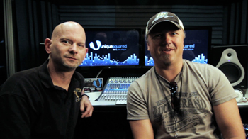 Brent Moreland (L) and Edwin McCain in the studio