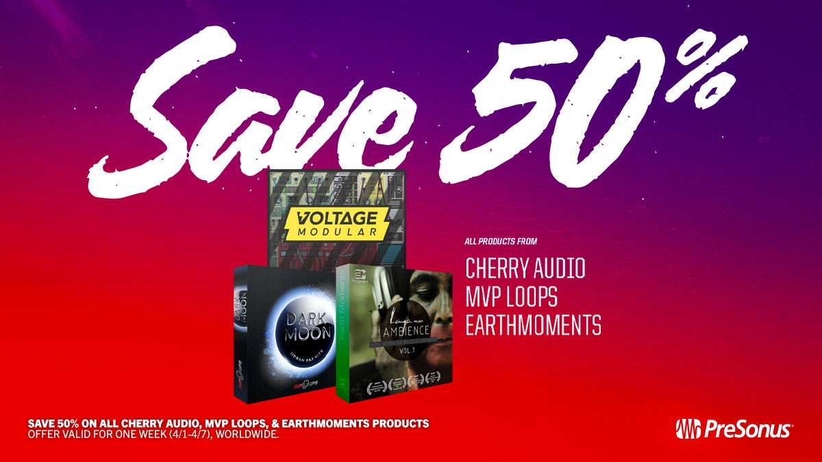 Cherry Audio MVP Loops and Earthmoments Sale April 2020
