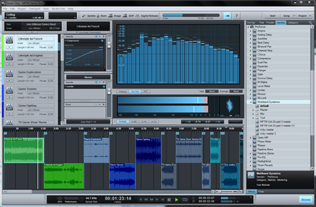 PreSonus Studio One Professional 2 Project page