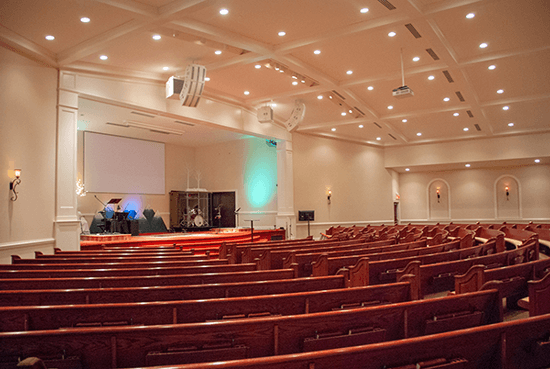 Bethany Grace Fellowship sanctuary. Click for larger image.