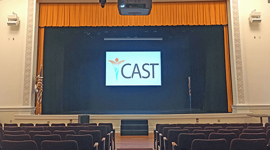 The auditorium at Creative Arts Academy of St. Lucie. Click for larger image.