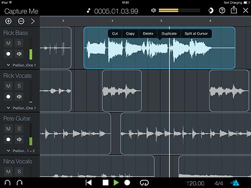 PreSonus Capture for iPad Puts Multitrack Recording at your