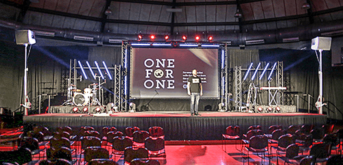 Elevate Life Church (ELC) stage setup. Click for larger image.