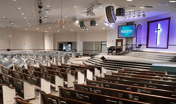 PreSonus CDL series loudspeakers installed at Fellowship Bible Church.