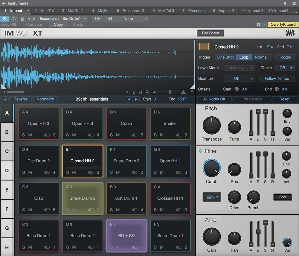 New in Studio One 4, Impact XT is far more than a drum module. Click for larger image.