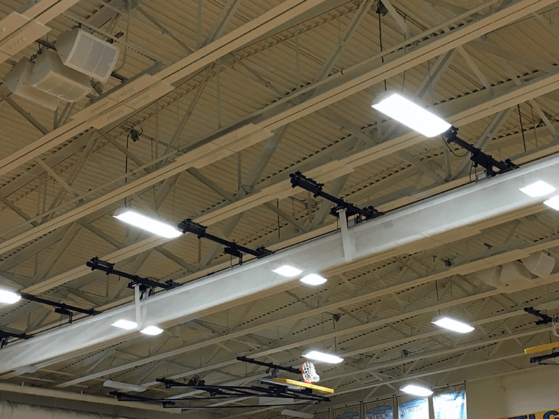 PreSonus WorxAudio Wave Series 12A loudspeakers at Lower Cape May Regional High School. Click for larger image.