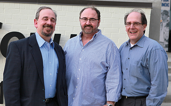 L to R: PreSonus Chairman of the Board Kevin Couhig, WorxAudio CEO and Director of Engineering Hugh Sarvis, and PreSonus CEO Jim Mack.