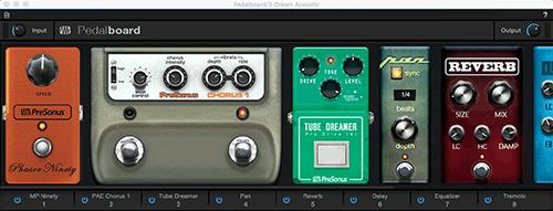PreSonus Pedalboard VST3. Click for larger image.