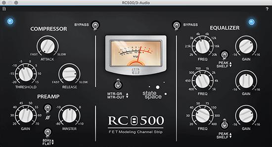 PreSonus RC500 VST3 Fat Channel plug-in. Click for larger image.