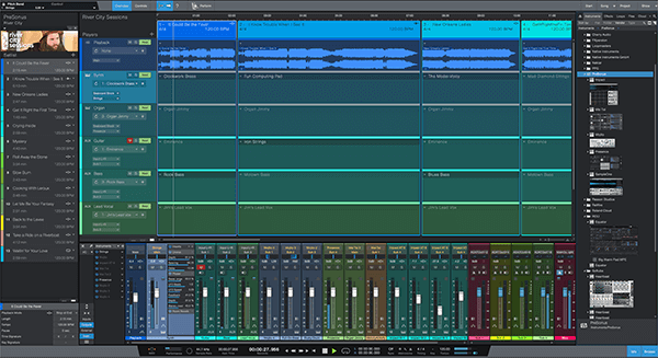 PreSonus Studio One 5's new Show Page. Click for larger image.