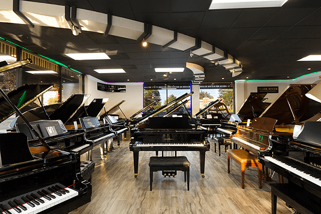 The Piano Store showroom.