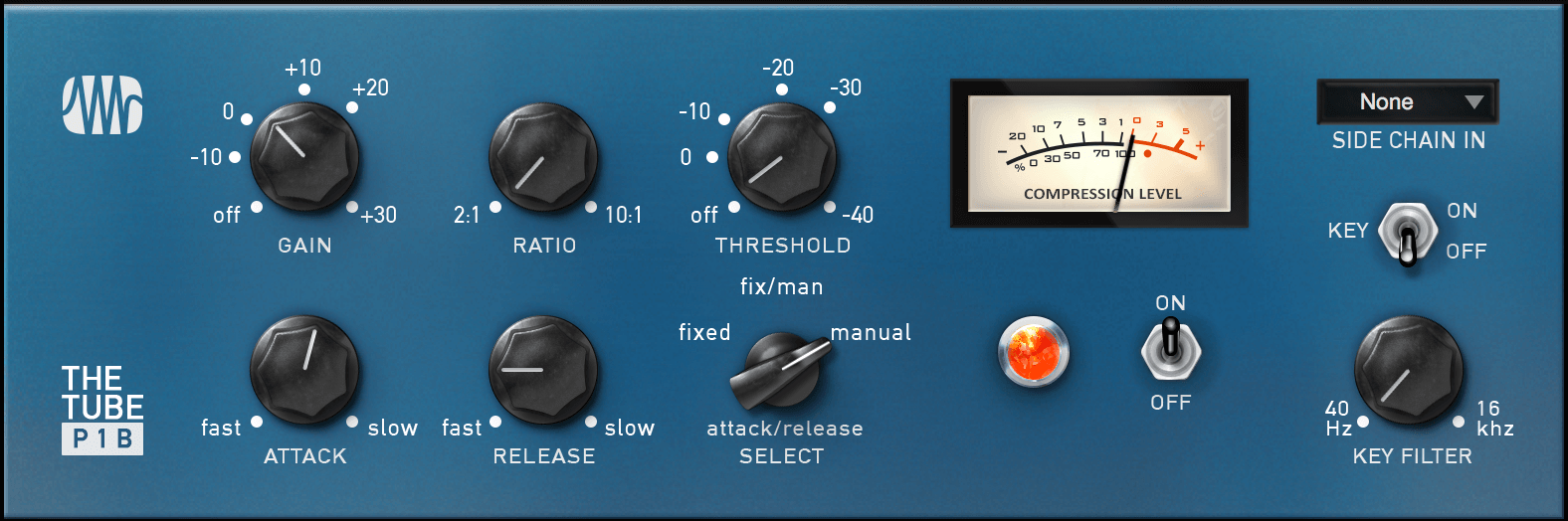 PreSonus The Tube P1B Compressor Add-on. Click for larger image.