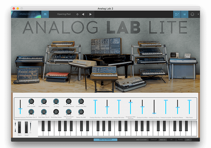 Arturia Analog Lab Lite