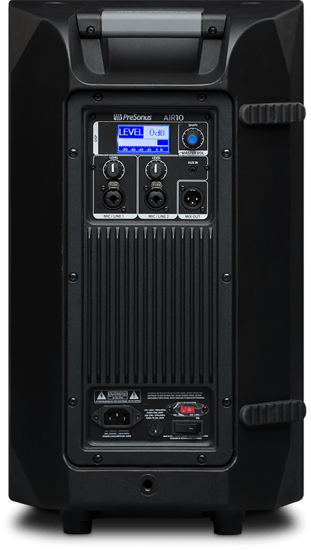 PreSonus AIR10 (rear). Click for larger image.