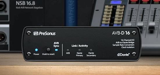PreSonus AVB-D16. Click for larger image.