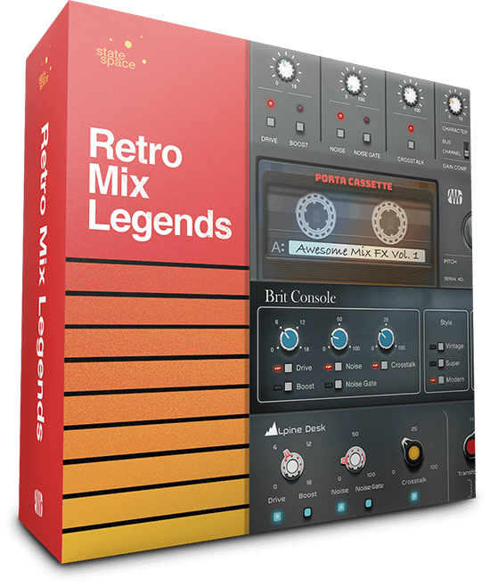 PreSonus' Retro Mix Legends adds three Mix Engine Effects plug-ins for Studio One Professional. Click for larger image.