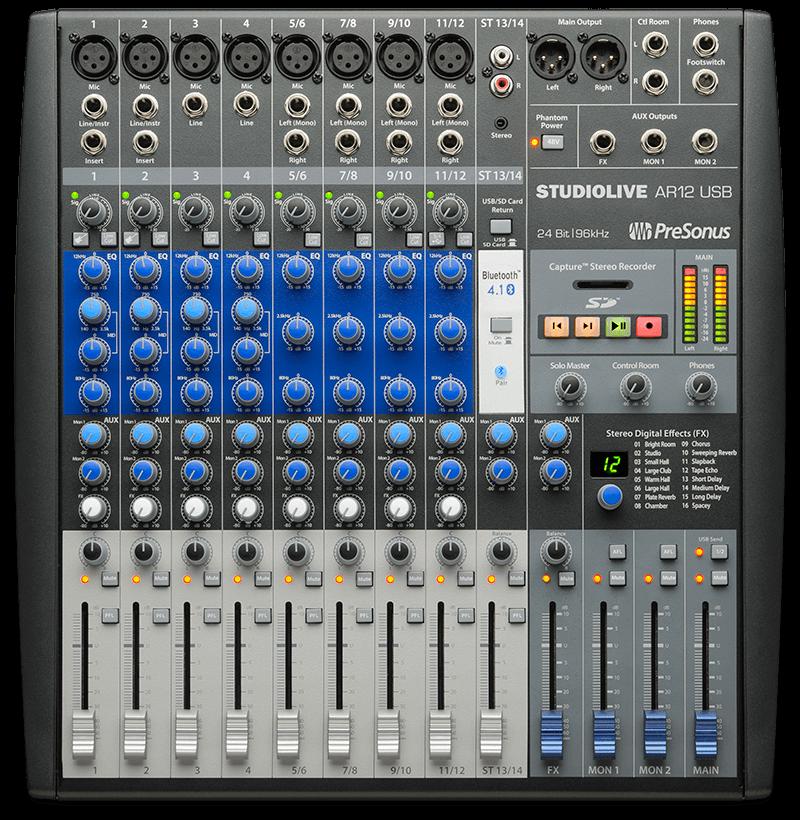 StudioLive AR12 USB. Click for larger image.