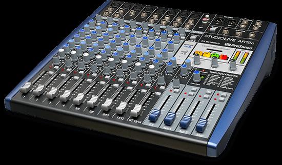 StudioLive AR12c hybrid mixer. Click for larger image.