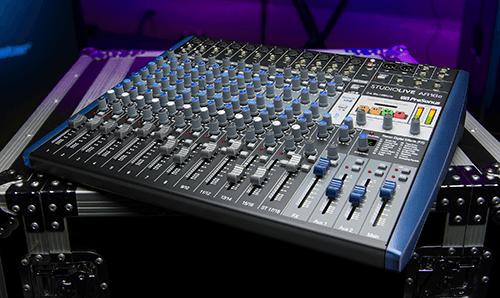 PreSonus StudioLive AR16c hybrid mixer. Click for larger image.