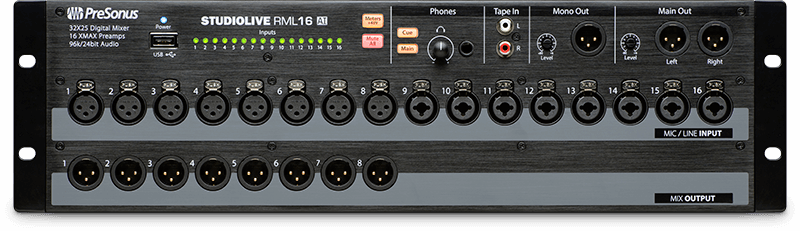 StudioLive RML16AI (front). Click for larger image.
