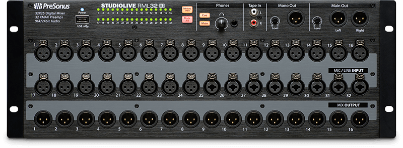 StudioLive RML32AI (front). Click for larger image.