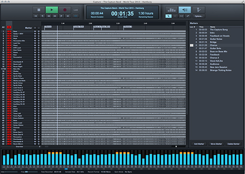 Integrated multitrack recording and virtual soundcheck — no computer required