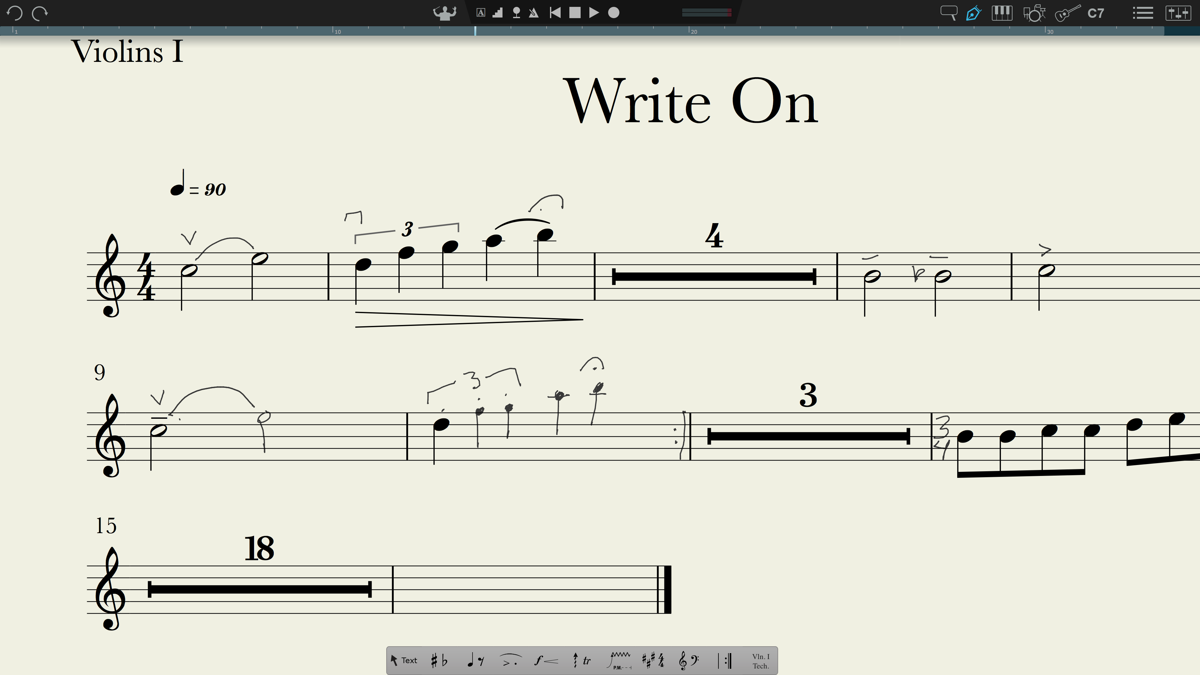 PreSonus® Notion™ 6 with handwriting recognition Powered by MyScript™. Click for larger image.