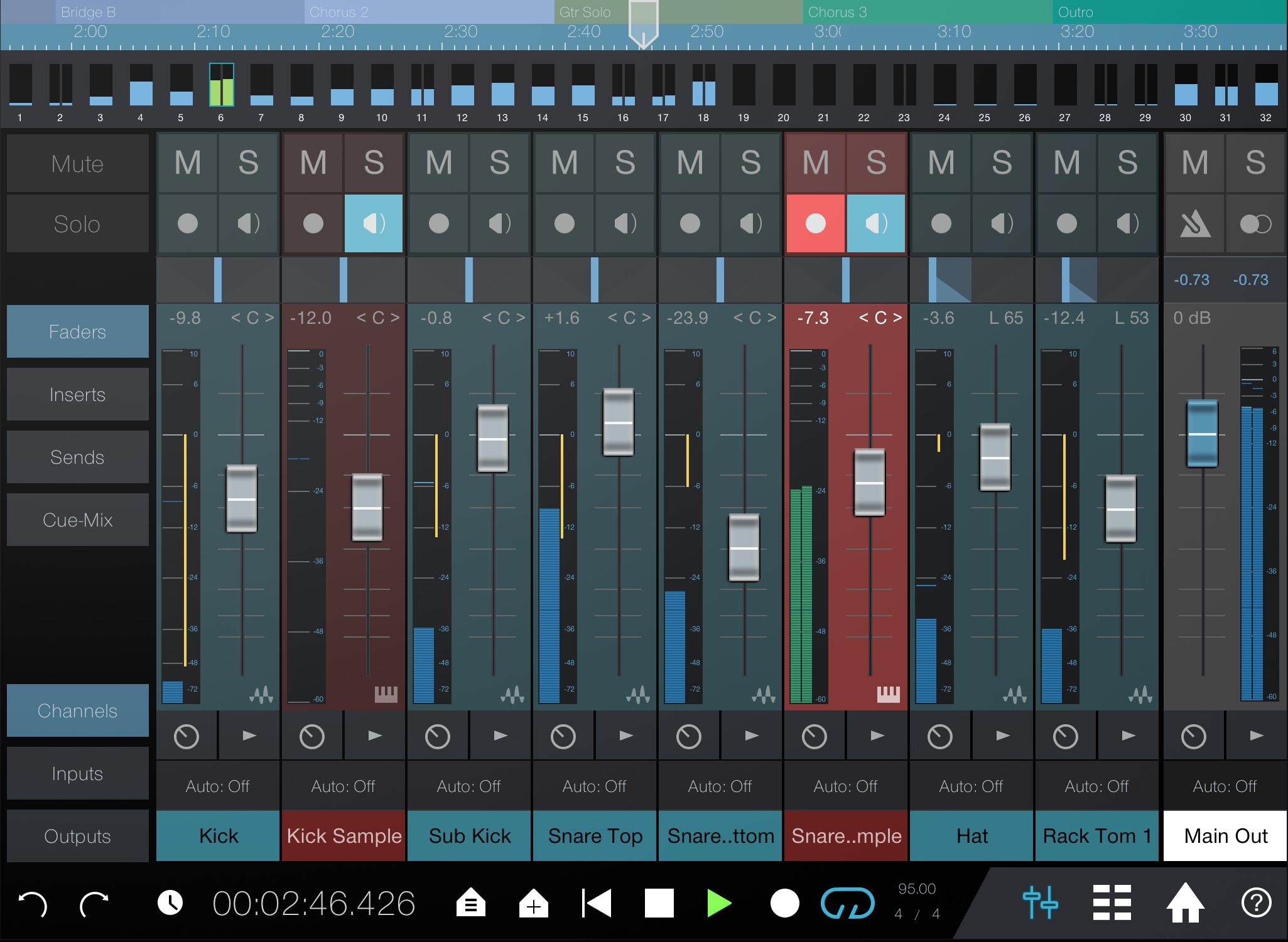 PreSonus Studio One Remote. Click to download image.