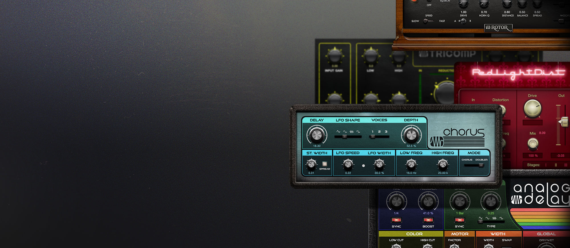 Analog Effects Collection User Interfaces