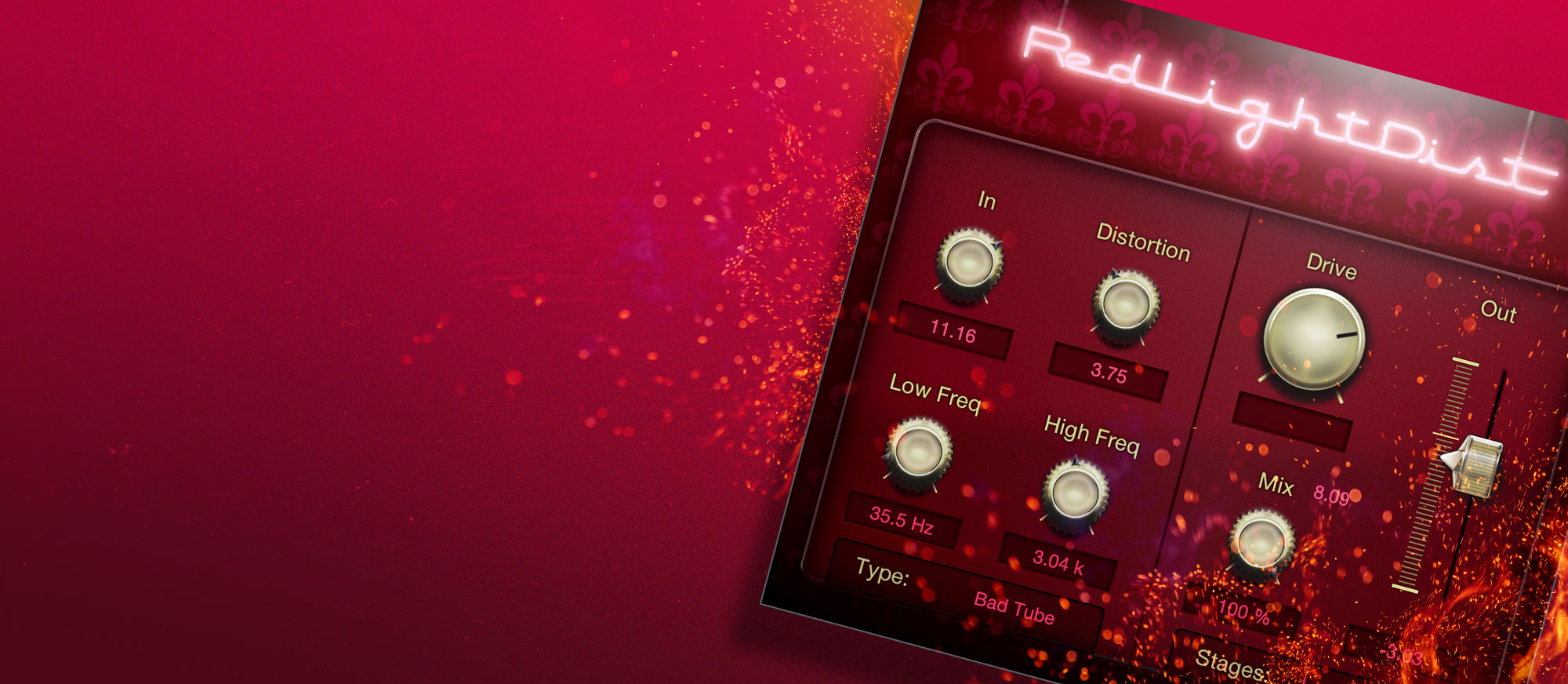 Red Light Distortion user interface