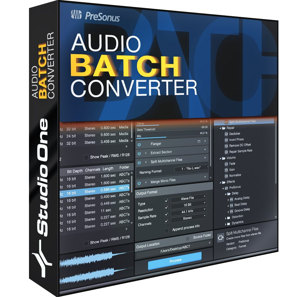 Audio Batch Converter | PreSonus Shop