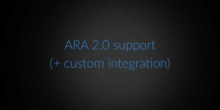 ARA 2.0 support (+custom integration) screenshot