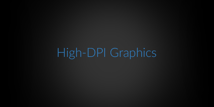 High-DPI Graphics screenshot