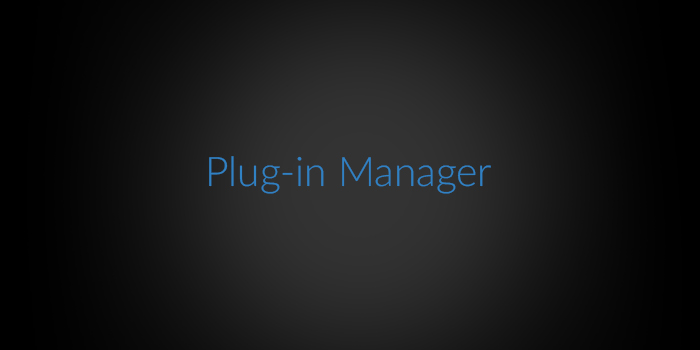 Plug-in Manager screenshot