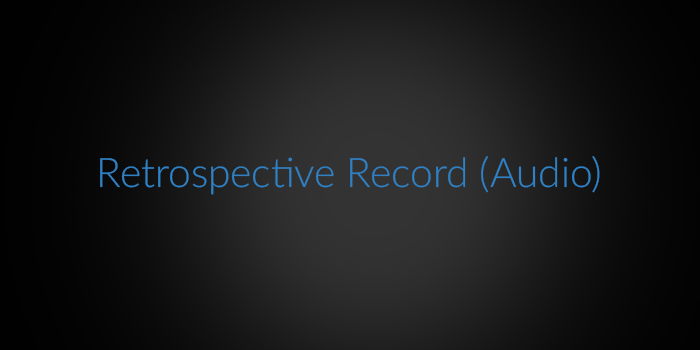 Retrospective Record (Audio) screenshot