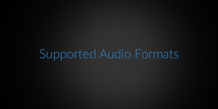 Supported Audio Formats screenshot