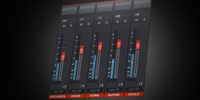 VCA faders screenshot