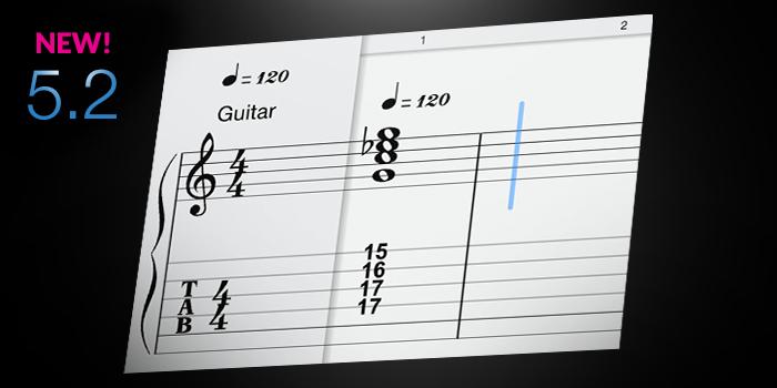 Tablature screenshot