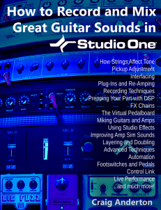How to Record and Mix Great Guitar Sounds in Studio One product image thumbnail