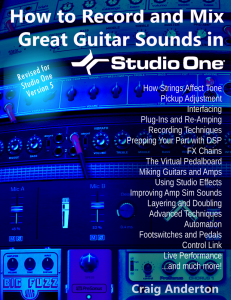 Craig Anderton - How to Record and Mix Great Guitar Sounds in Studio One product image thumbnail