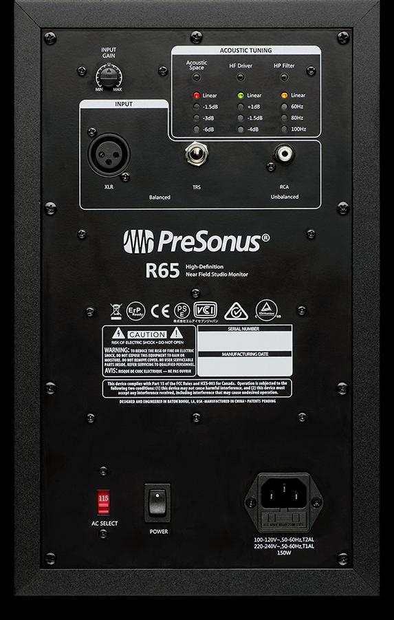 Kết quả hình ảnh cho PreSonus R65 AMT Monitor