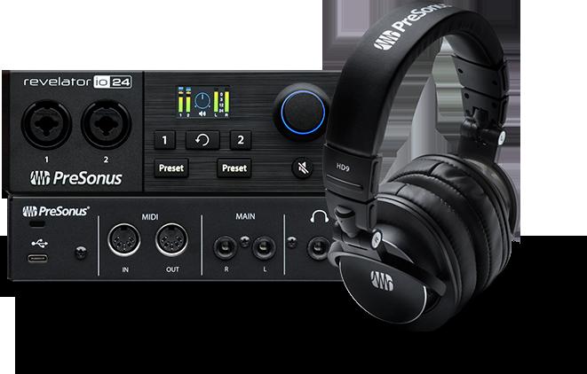 Revelator io24 and HD9 Headphones