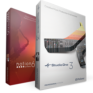 PreSonus Pro Bundle - Notion 6 and Studio One 3 Professional