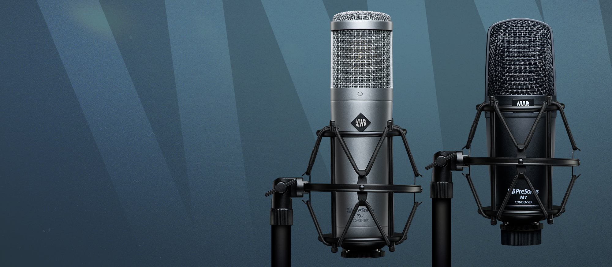 PX-1 and M7 mics in SHK-1 shock mount