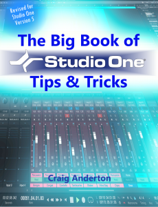 Craig Anderton - The Big Book of Studio One Tips and Tricks product image thumbnail