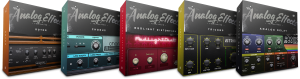 Packing for the five products in the Analog Effects Collection