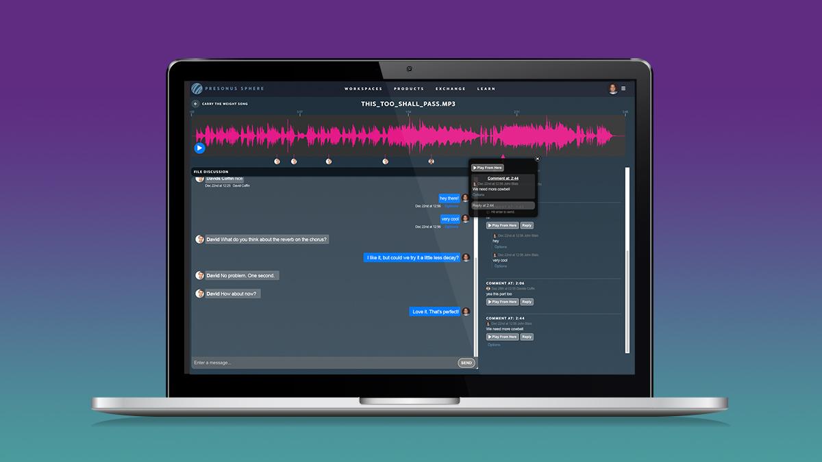 PreSonus Workspaces UI